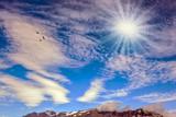 Cool northern sun illuminates the mountains - 228392927