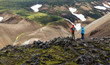 Couple traveling in Iceland