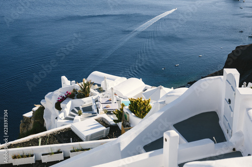 Sea view and white terrace, Santorini