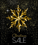 Christmas sale card with luxury gold decoration - 228397512