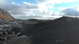 360 Aerial Pan of Tourists Viewing a Glacier. - 228429383