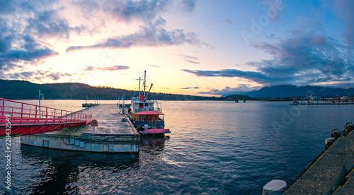 Panoramic view of Port Alberni dock in Vancouver Island, BC, Canada - 228432549