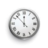 Classic Clock Roman Numeral Shadow