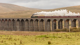 steam train over ribblehead viaduct