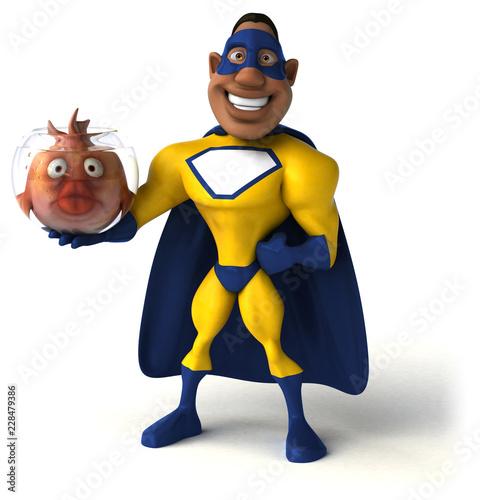 Zabawy superbohater - 3D ilustracja