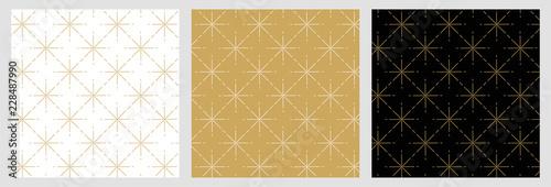 Élégant motif étoile raccord avec dessin traditionnels doré pour fond et arrière plan de noël