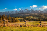 Tatra Mountains close up from Poland Slovakia border side
