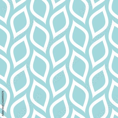 Retro Seamless Pattern Lemons Turquoise Diagonal Big - 228493574