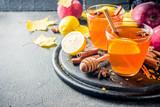 Autumn winter hot spicy tea - 228502393