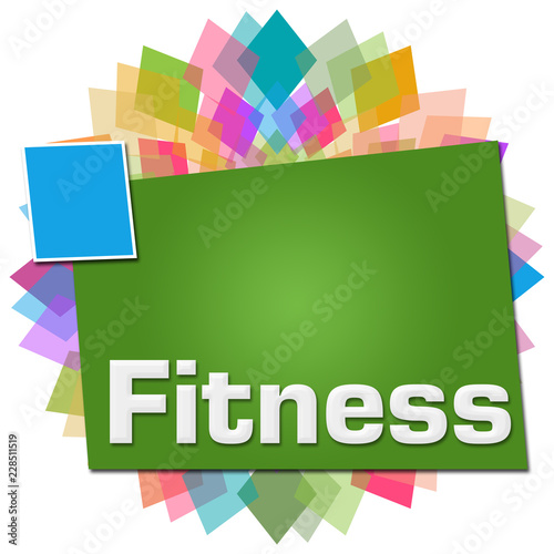 Wall mural Fitness Circular Colorful Squares