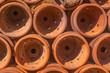 Warehouse of traditional Asian pottery made by clay, magazzino di vasi artigianali di creta