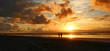 Quadro Walking at Sunrise