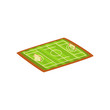 Football or soccer stadium, green sports ground vector Illustration on a white background