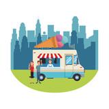 Icecream food truck