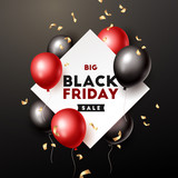 Black Friday banner. Vector illustration - 228528786