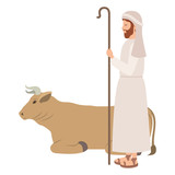 saint joseph with ox character