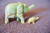 Stone elephants handmade onyx