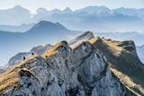 Schrattenfluh  mit Hengst und Schibengütsch, Gebirgskette im Berner Oberland, Schweizer Alpen, Entlebuch, Schweiz