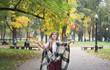 Quadro Happy woman throwing leaves