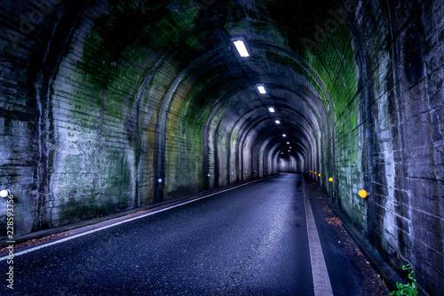 Dark scary tunnel