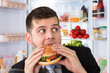 Businessman Eating Burger