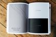 Leinwandbild Motiv Wave texture magazine page mockup