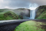 Skogafoss waterfall and Skoga river, Iceland