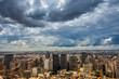 dramatic storm clouds over Sao Paulo skyline - 228658180