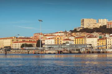 Port of Ajaccio, seaside view. Corsica