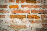 raw brick wall before cement plastered, rough wall texture, vintage no graffiti wall