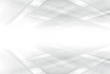 White gray abstract background. Futuristic space design.