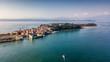 Quadro Vista aerea di Sirmione sul lago di garda
