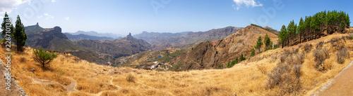 Fridge magnet landscape in the mountains