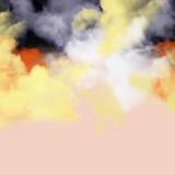 Smoke colorful ,cloud,painting,bush