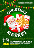 Christmas Market poster template - 228727136