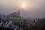 Foggy sunrise in Lisbon. Portugal - 228742900