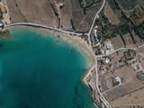 Aerial photo of a Mediterranean coastline