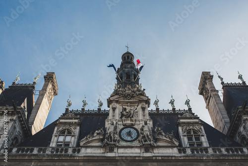 Wall mural City Hall, Paris, France
