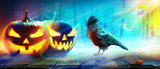 Halloween Motiv mit Raben