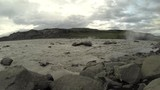Muddy River in iceland. Recorded in slowmotion with a gopro hero. - 228773543