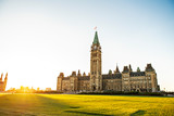 Center Block and the Peace Tower in Parliament Hill at Ottawa in Canada - 228775370
