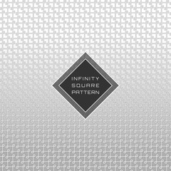 White Geometric Seamless Diagonal Infinity Square Pattern Background © AiMstock