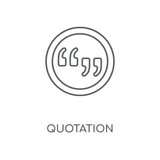 Quotation linear icon. Quotation concept stroke symbol design. Thin graphic elements vector illustration, outline pattern on a white background, eps 10.