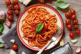 Spaghetti pasta with tomato sauce - 228810766