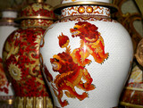 Traditional Chinese vases at a Chinese market - 228815930