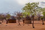 Village, Maison, typique, tribu, Himba, Namibie, Afrique, orange, voyage, paysage - 228824519