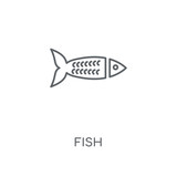 Fish linear icon. Fish concept stroke symbol design. Thin graphic elements vector illustration, outline pattern on a white background, eps 10.