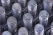 Steel bolts close up