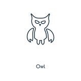 Owl concept line icon. Linear Owl concept outline symbol design. This simple element illustration can be used for web and mobile UI/UX.