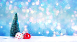 Christmas tree and little bauble decoration ornaments - 228858764